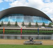 LONDON- JUNE 10: The public can now swim in the London Aquatics Centre, in the queen elizabeth olymp