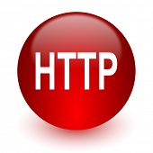 http red computer icon on white background