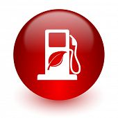 biofuel red computer icon on white background