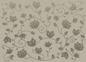 Gray Seamless Lotus Pattern