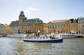 STOCKHOLM, SWEDEN - MAY 17, 2014: Nybroviken (Swedish for