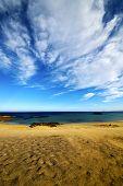 Footstep In Lanzarote   Cloud Beach  Water  And Summer