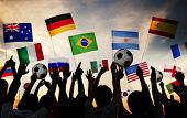 Silhouettes of People Gathered for 2014 FIFA World Cup