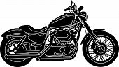 Detailed Motorcycle Silhouette