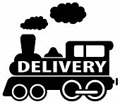 isolated delivery train icon
