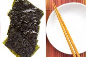 Japanese Sheet of dried nori  or dried seaweed