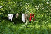 Clothes Hanging In The Villege