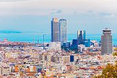 Panoramic View At Barcelona Port Olympic.