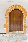 Old Entrance Doors In Sitges, Spain