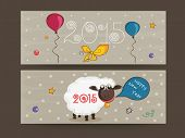 Website header or banner for Happy New Year 2015 celebration.