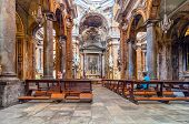Santissimo Salvatore Church In Palermo, Sicily