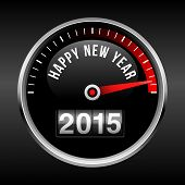 picture of happy new year 2014  - Happy New Year 2015 dashboard background with speedometer dial and odometer - JPG