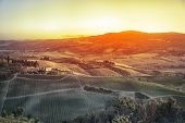 An image of a Tuscany landscape in Italy