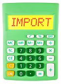 Calculator With Import On Display Isolated