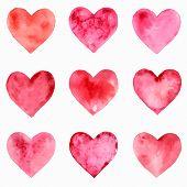 Heart watercolor pattern