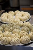 Trays Of Chinese Steamed Dumplings