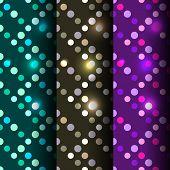 Set of 3 seamless disco