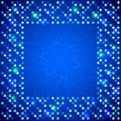 Christmas bright frame with shiny sequins