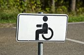 Wheelchair Handicap Sign In Resort Park  Road