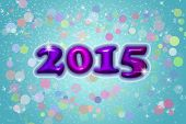 New Year's background 2015