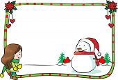 blank Merry Christmas card