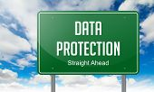 Data Protection on Highway Signpost