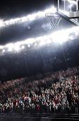 Basketball  city stadium in lights