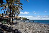 Machico near airport in Madeira, Portugal