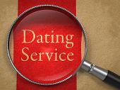 Dating Service through Magnifying Glass.