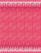 Pink Asian paisley and elephant pattern