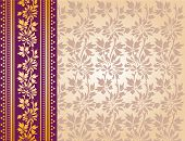 Purple and cream saree background