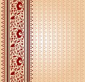 Vintage red floral Indian saree background