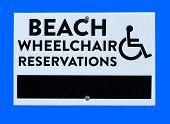 Beach Wheelchair Sign