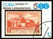 Vintage  Postage Stamp. Monastery Of La Rabida.