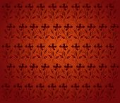 Red floral pattern background