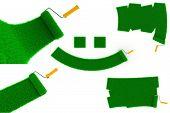 Environmental Paint Concept of Green Grass