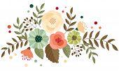 retro flower arrangement