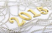 Gold Figures Of The New 2015 Year On A White Background