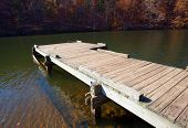 Boat Dock In The Fall