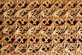 Woven bamboo pattern of basketwork