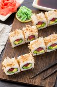 Sushi roll with tuna