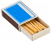 Blue Match Boxes On Isolated