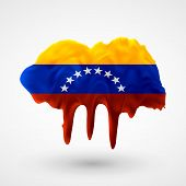 Flag of Venezuela painted colors