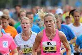 Focused Woman Running