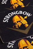 Beermats from Strongbow cider