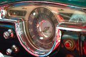 Vintage Car Interior Deck In Havana, Cuba.
