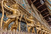 stock photo of garuda  - Golden Garuda of Wat Phra Kaew at Bangkok thailand