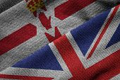 Постер, плакат: Flags Of Uk And Northern Ireland On Grunge Texture
