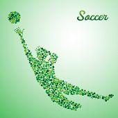 Abstract Soccer Goalkeeper