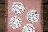 Four White Place Mat